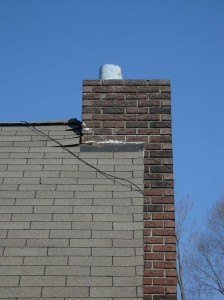 Chimney after cracks have been repaired