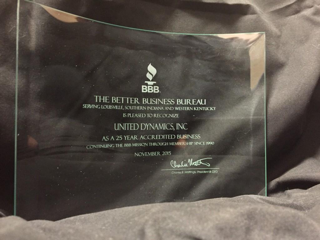 BBB UDI Award